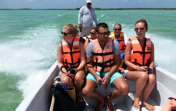 just a perfect day - floaten in de mangroven - Varen over laguna 2  - playa del carmen - Yucatan  Mexico
